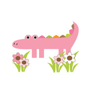 Safari Nursery Alligator Decals Jungle Animals Wall Art Stickers [148] - $15.00 : DeCamp Studios, The best selection of nursery wall murals, childrens wallpaper border, teen girl or boy wall art decals, baby premade scrapbook pages, and digital printable c