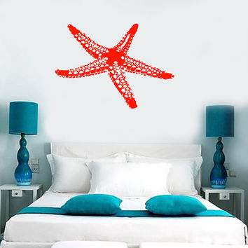 Wall Vinyl Decal Sea Star Fish Marine Ocean Beach House Decor m003