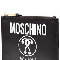 Moschino - Zipped Leather Clutch
