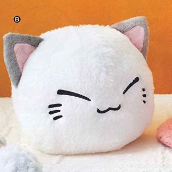 Nemuneko Big Soft Round Plush Type-B: White About 13""