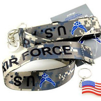 "Official Licensed Products Military ""US AIR FORCE"" Camo Lanyard-New with Tags!"