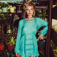 Hazel Dress Aqua Blue