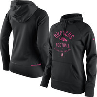 Denver Broncos Nike Women's Breast Cancer Awareness Hoodie - Black