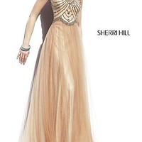 High Neck Floor Length Dress by Sherri Hill