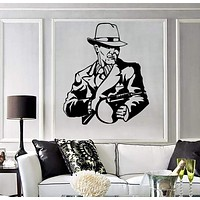 Wall Stickers Vinyl Decal Tommy Gun Gangster Mafia Weapons Unique Gift z1022