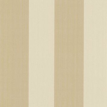 Brewster Wallpaper 492-2214 Hudson Gold Broad Stripe