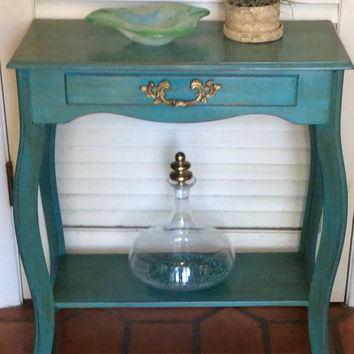 Blue Foyer Table