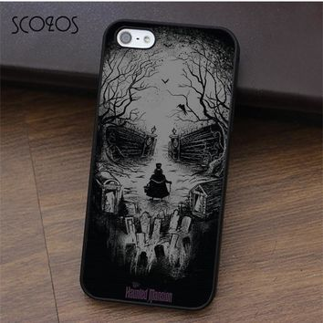 Haunted Mansion Skull phone case for iphone X 4 4s 5 5s Se 5C 6 6s 7 8 6&6s plus 7 plus 8 plus