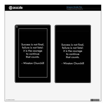 Winston Churchill Quote; Success Decal For Kindle Fire