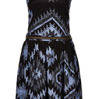 Ikat Printed Pinafore Dress - New In This Week  - New In