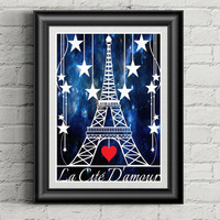 Eiffel Tower Decor, Paper Cut Art, Eiffel Tower Art, Paper Cutting, French Decor, Paris Bedroom Decor, Anniversary Gift, Wedding Couple Gift
