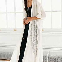Band Of Gyspies Beautiful Crochet Kimono- Cream