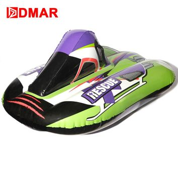 """DMAR 100cm 40"""" Inflatable Racing Snow Tube Skiing Board With Handle Sled Snow tire Slippery Grass Sand For Adults Kids Float"""
