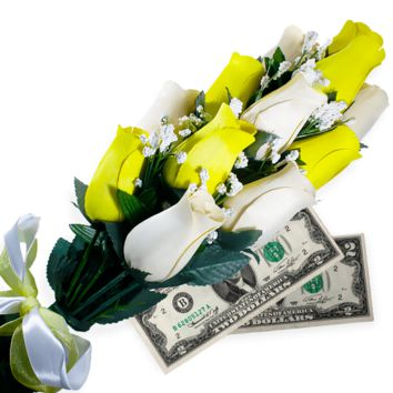 Cream & Yellow Bouquet | Cash Roses®