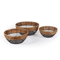 Round Wire Storage Basket (Set of 3)