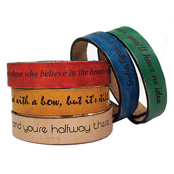 Personalized Leather Wrap Bracelet (3 Pack)