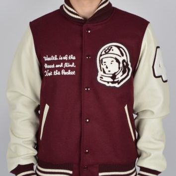 Billionaire Boys Club Varsity Jacket - Burgundy