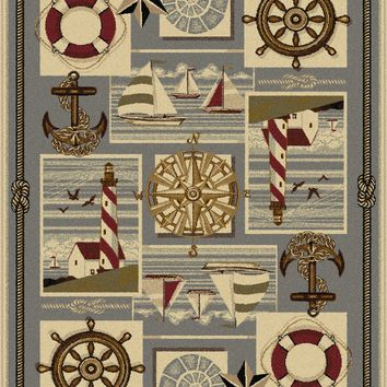 Tayse Nature Nautical Bliss Area Rug