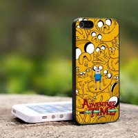 Adventure Time Finn And Jake - For iPhone 5 Black Case Cover