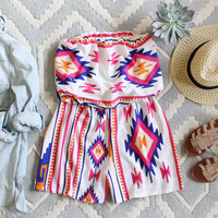 The Jackson Romper in White