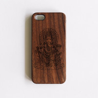 Ganesha Wooden iPhone 4/5/5C iPhone 5S case walnut wood iphone case