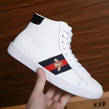 GUCCI Woman Men Fashion High-Top Flats Shoes