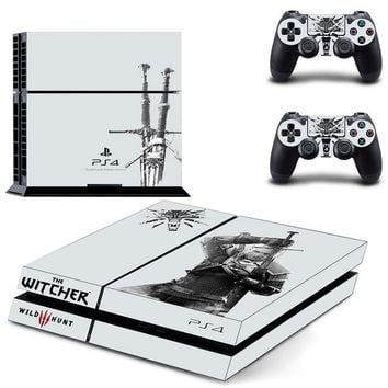 The Witcher PS4 Protective Vinyl Skin Cover 2 Controllers
