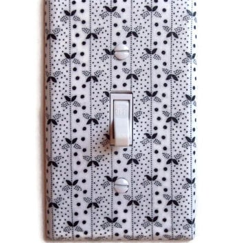 Whimsical Delight Single Toggle Switch Plate, wall decor switchplate