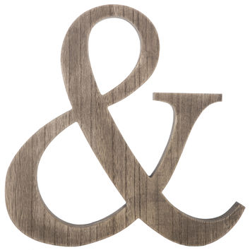 Natural MDF Ampersand Wall Decor | Hobby Lobby
