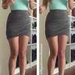 V-Neck Scuba Crop Top - Mint