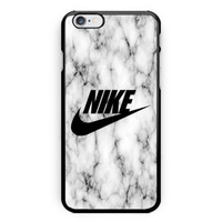 New Nike Logo White Marble Print on hard case for iPhone 6s, 6s plus