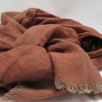 linen scarf natural linen scarf for men or women   free by mooshop