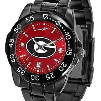 Georgia Bulldogs Fantom Mens Watch Anochrome Gunmetal