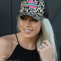 Serape Texas Cheetah Trucker Hat