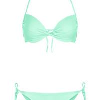 Aqua Plunge Bikini Top and Pants - Topshop USA