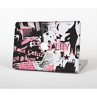 """The Pink & Black Abstract Fashion Poster Skin Set for the Apple MacBook Air 13"""""""