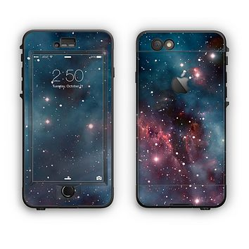 The Bright Pink Nebula Space Apple iPhone 6 LifeProof Nuud Case Skin Set