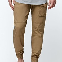 Modern Amusement Herringbone Trail Jogger Pants - Mens Pants - Gold