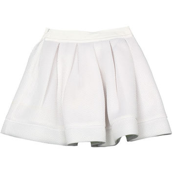 Monnalisa - Girl White Honeycomb Skirt