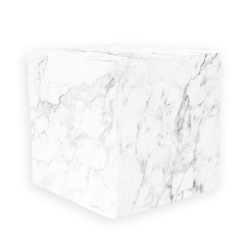 White Marble Wooden Cube Cover Photography Prop - CUBE15