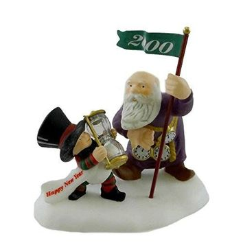 Dept 56 Accessories Happy New Year! North Pole Dated - Porcelain 2.50 IN