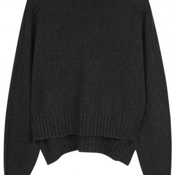 Isabel Marant Fleming charcoal wool blend jumper