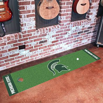 "Michigan State Putting Green Runner 18""x72"""