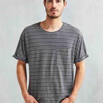 Feathers No Armhole Hemp Stripe Tee