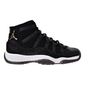 Jordan Air 11 Retro Premium HC Big Kids' Basketball Shoes Black/Gold-White 852625-030
