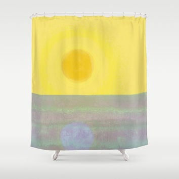 Here Comes the Sun Shower Curtain by anipani