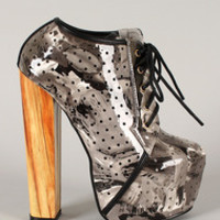 Lindy-1 Strappy Open Toe Platform Wedge