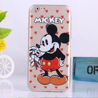 Disney Mickey Mouse SELFIE  clear cell phone case for iPhone 6 NEW