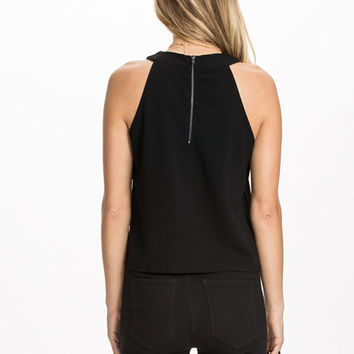 Cut Away Shell Top, Miss Selfridge