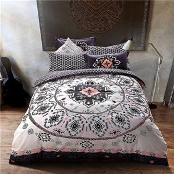 Mandala style geometric bedlinens high quality sanding cotton fabric Queen/King size duvet cover set bedding set